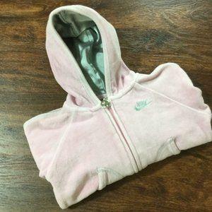 NIKE Full Zip Up Long Sleeve Pink Hoodie